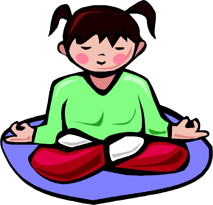 Cleansing chakras doing alkah. Calm clipart kid meditation