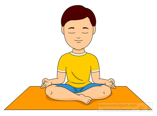 Relax pencil and in. Calm clipart kid meditation