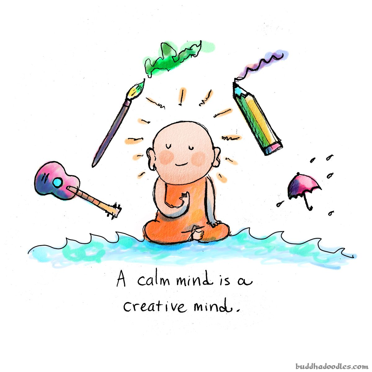 Mindful drawing today s. Calm clipart mindfulness