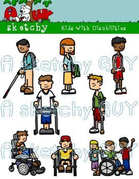 Kids with disabilities special. Calm clipart patient person