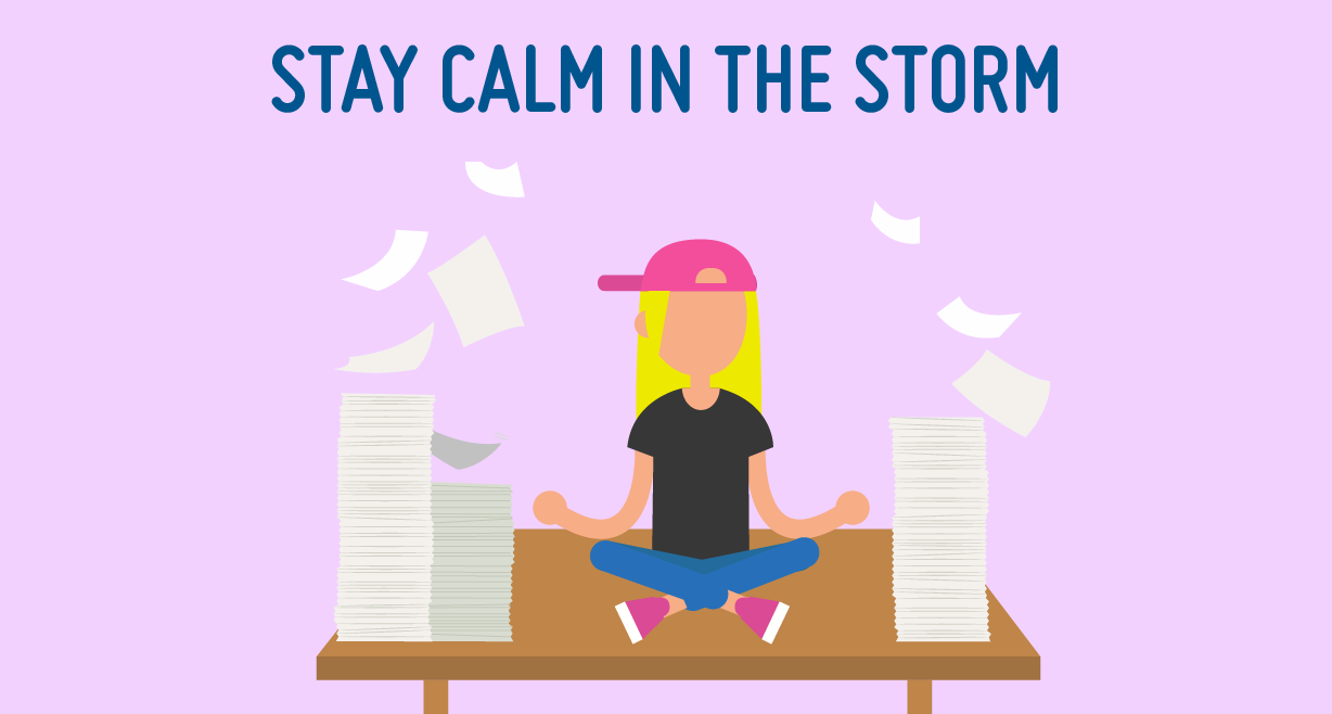 Stay in the storm. Calm clipart physical health