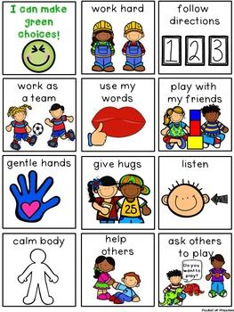 Behavior management green and. Calm clipart preschool