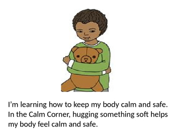 Corner social story by. Calm clipart safe body