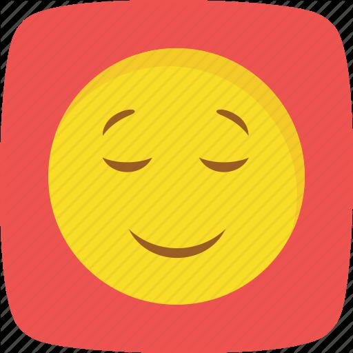 Emoticons flat curve bg. Calm clipart smiley