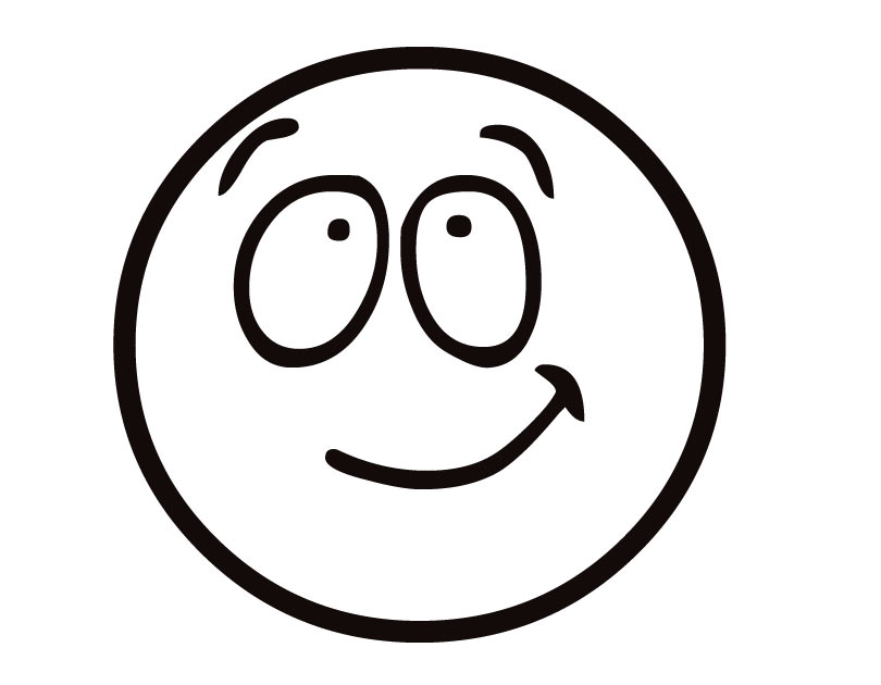 Free pictures of emotion. Calm clipart smiley