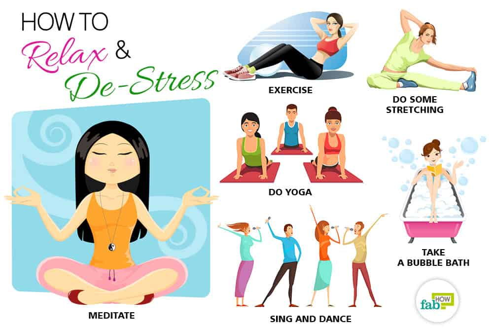 Calm clipart stress reduction. How to relax and