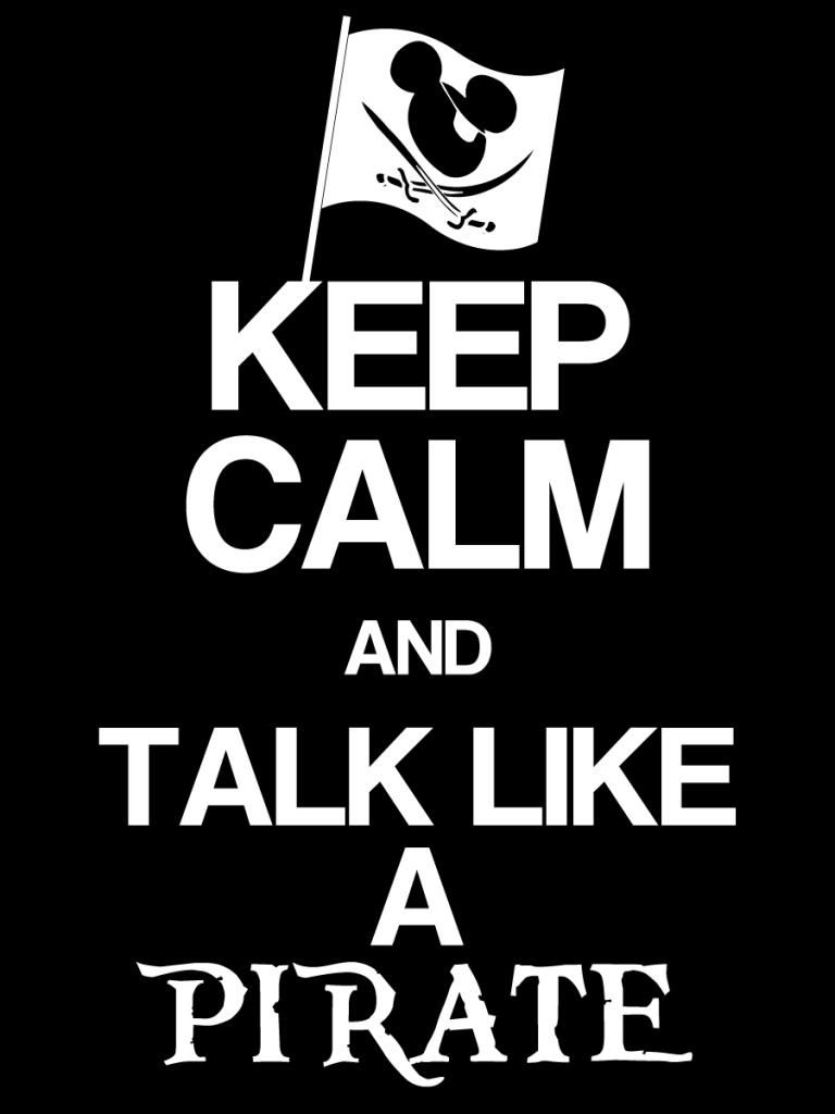 Keep like a pirate. Calm clipart talk