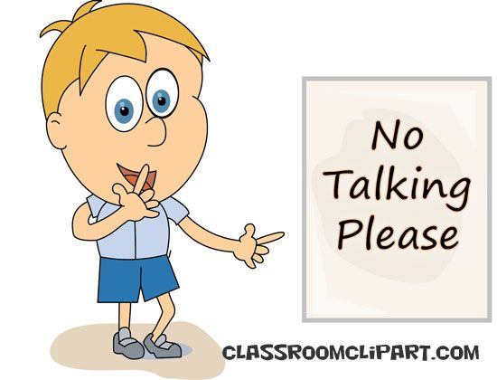School no talking please. Calm clipart talk