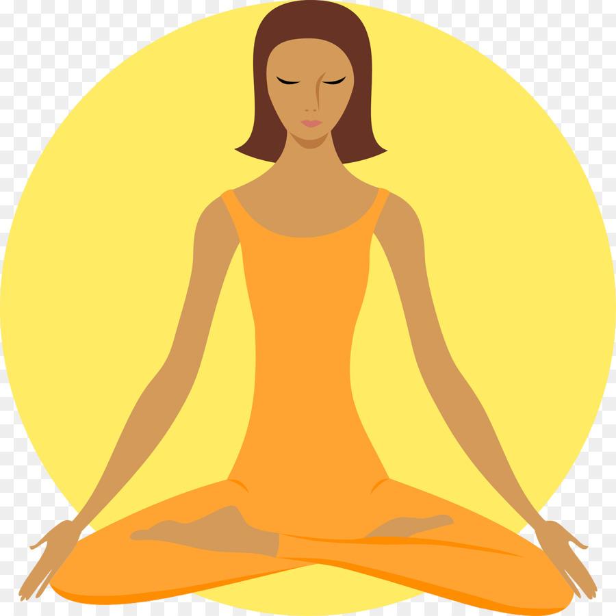 Fitness cartoon yellow orange. Calm clipart transparent