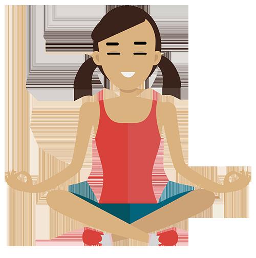 Meditation clipart calm face