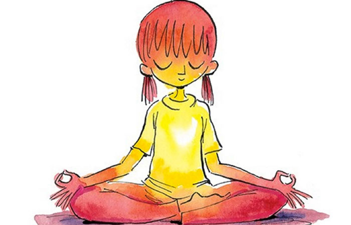 collection of kid. Calm clipart yoga