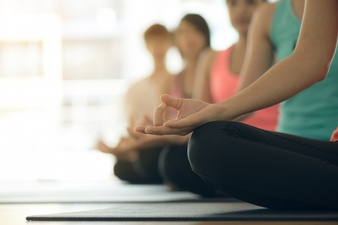 Calm clipart yoga class. Vectors photos and psd