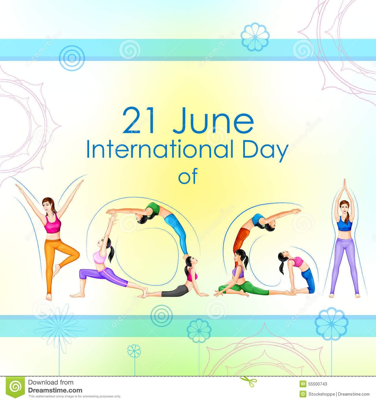 international awareness and. Calm clipart yoga day