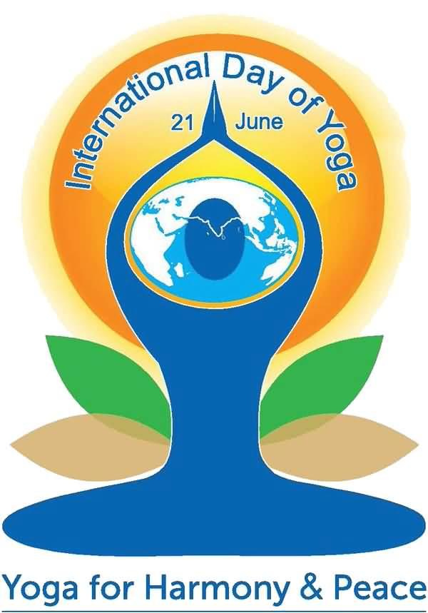 beautiful international wishes. Calm clipart yoga day