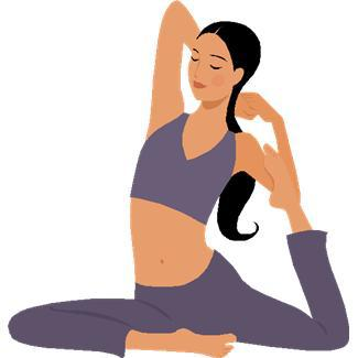 collection of high. Calm clipart yoga instructor