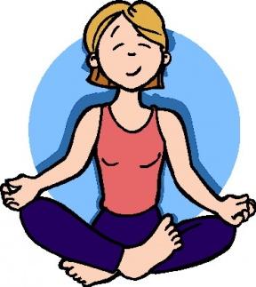Calm clipart yoga teacher.  collection of person