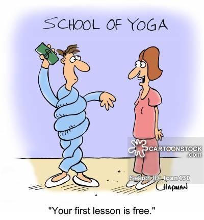 Cartoons and comics funny. Calm clipart yoga teacher