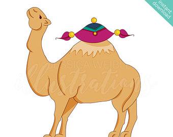 Camel clipart arabian. Art etsy cute digital
