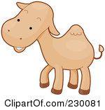 Camel clipart baby camel. Royalty free rf illustration