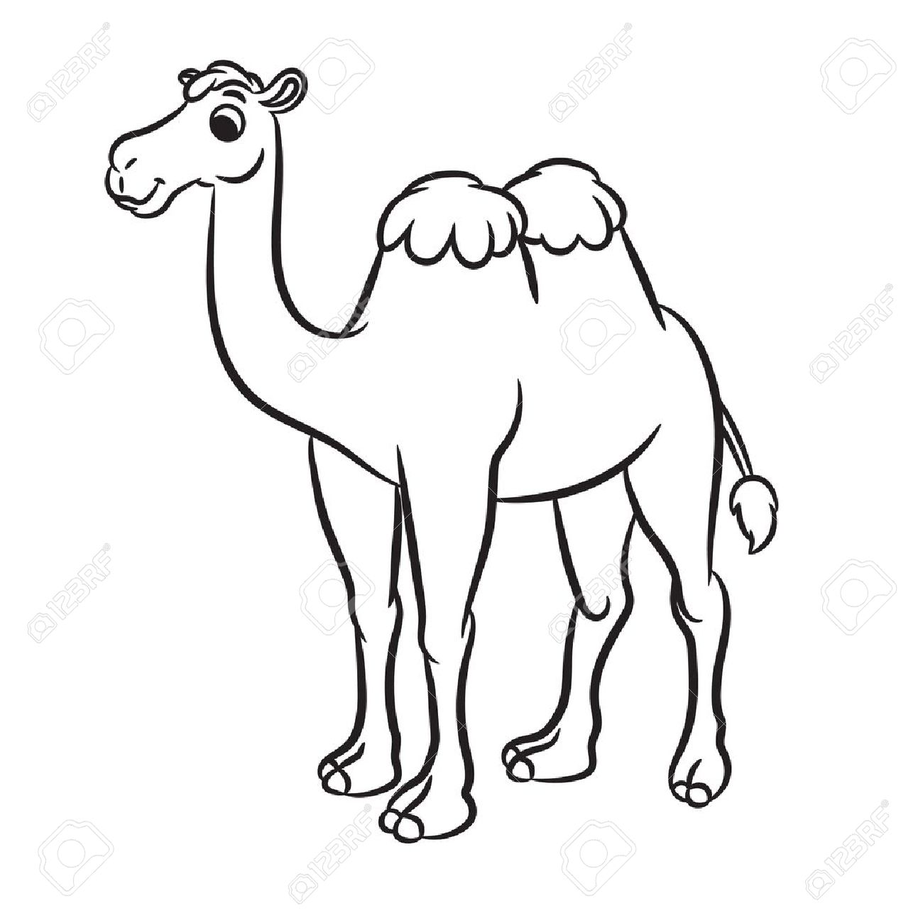 Camel Clipart Black And White, Camel Black And White