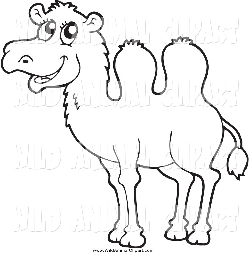 Panda free . Camel clipart black and white