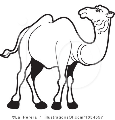 Station . Camel clipart black and white