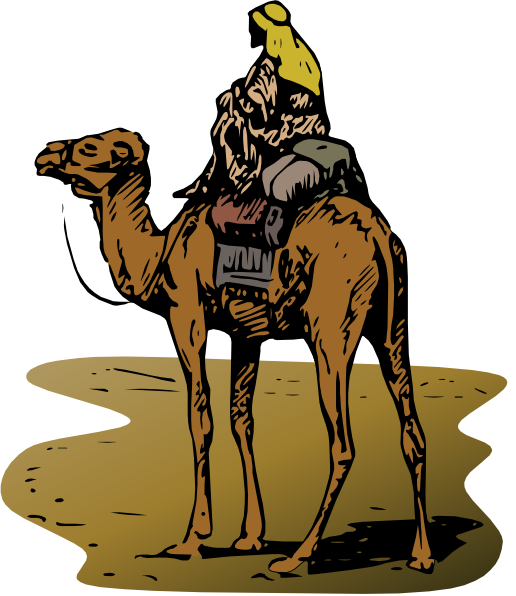 Camel clipart camel egypt. Person riding clip art