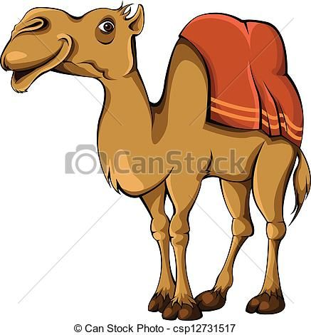 camel clipart colorful