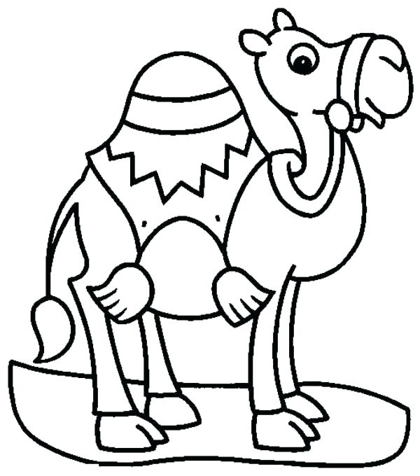 Camel clipart colouring page. Coloring pages camels for