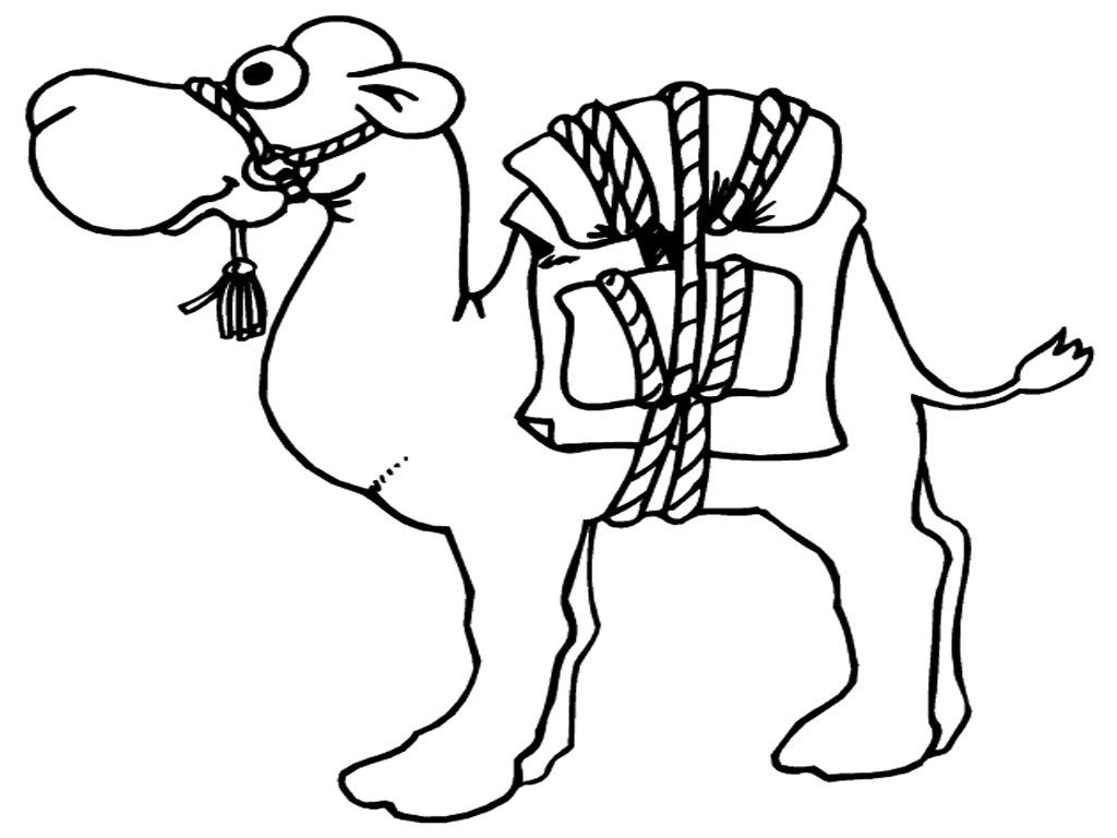 Printable coloring pages me. Camel clipart colouring page