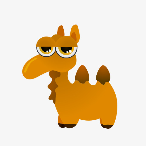 Cute cartoon animal animals. Camel clipart comic