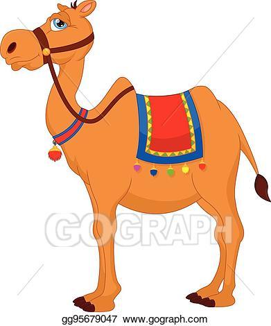 Camel clipart comic. Vector art cute cartoon