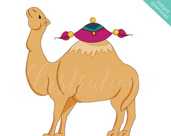 Illustration etsy arabian cute. Camel clipart desert camel