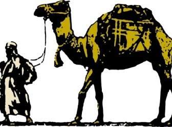 Desert caravan psd landscape. Camel clipart gambar