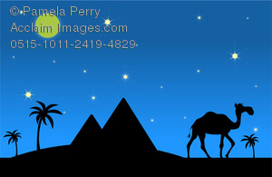 Clip art image of. Camel clipart palm tree