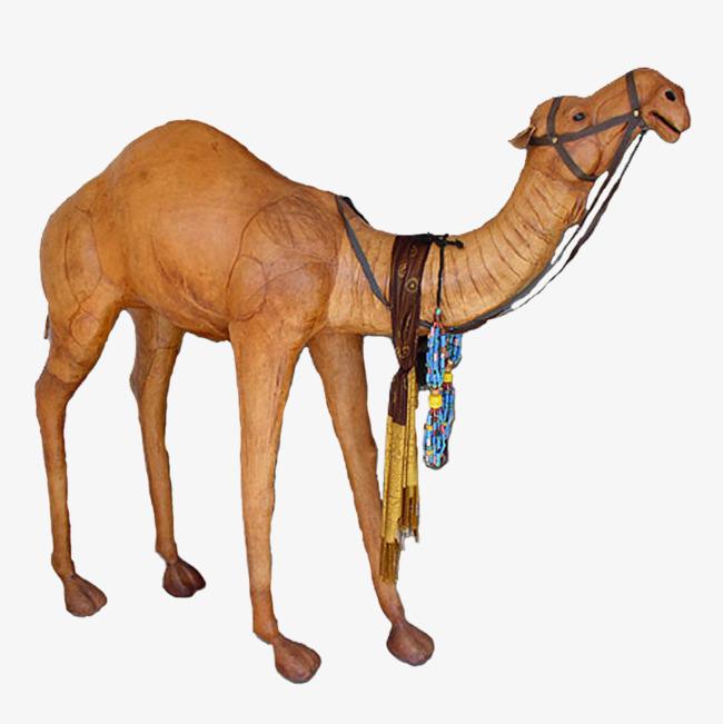 Desert decorative rope animal. Camel clipart pink