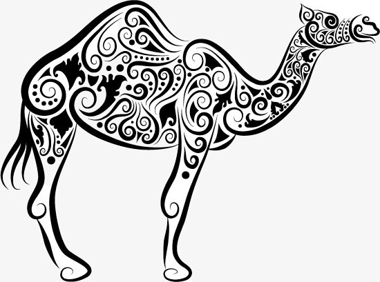 Camel clipart sketches. Silhouette fashion sketch simple