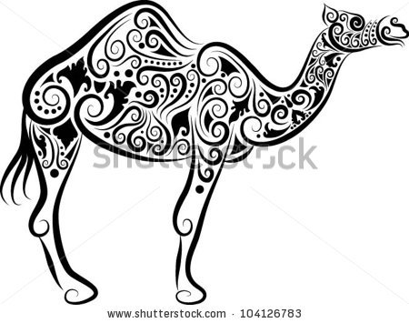 Black and white free. Camel clipart sketches
