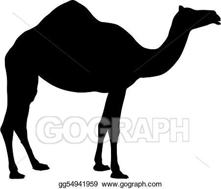 Stock illustration gg gograph. Camel clipart vector