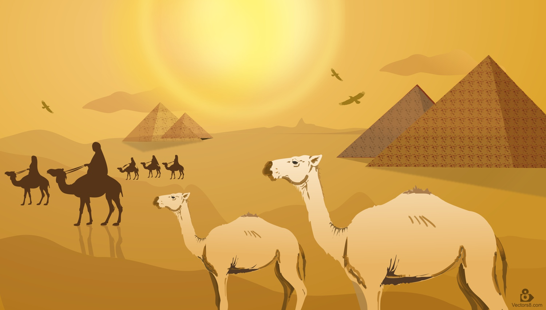 Camel clipart vector. Egypt desert pencil and