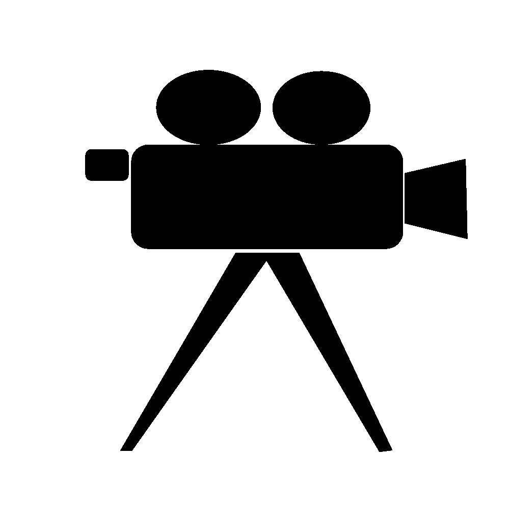 clipart camera black and white