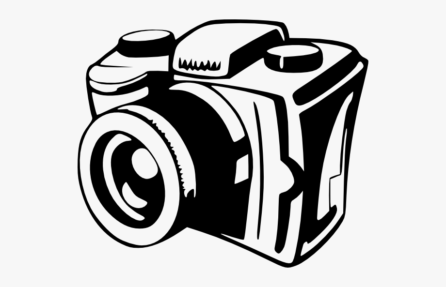 Filming vintage . Camera clipart black and white