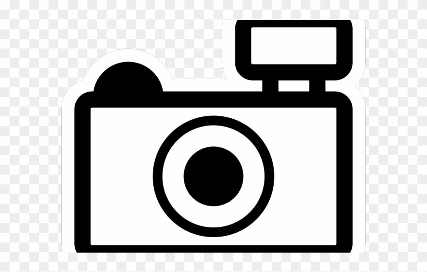 Lens clip art . Clipart camera black and white