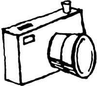 Clipart panda free images. Camera clip art black and white