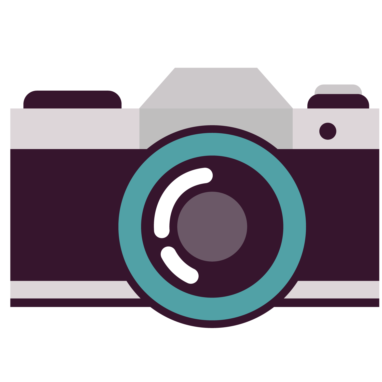 Square clipart purple. Camera cartoon clip art