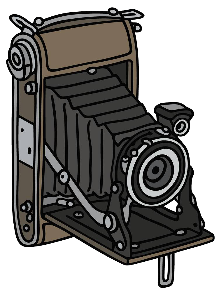 Drawing photography clip art. Clipart camera old fashioned