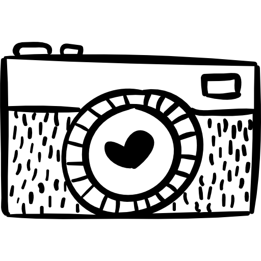 Photo with a heart. Camera clip art clear background