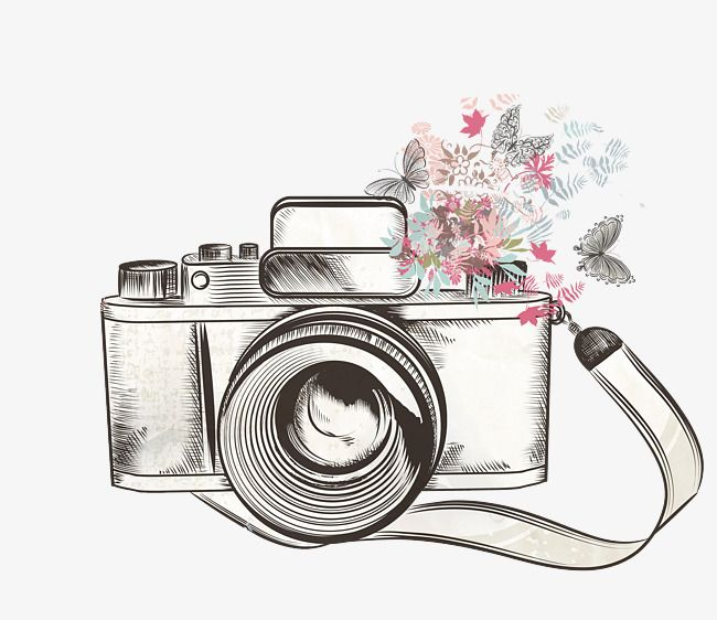 One png . Camera clipart flower