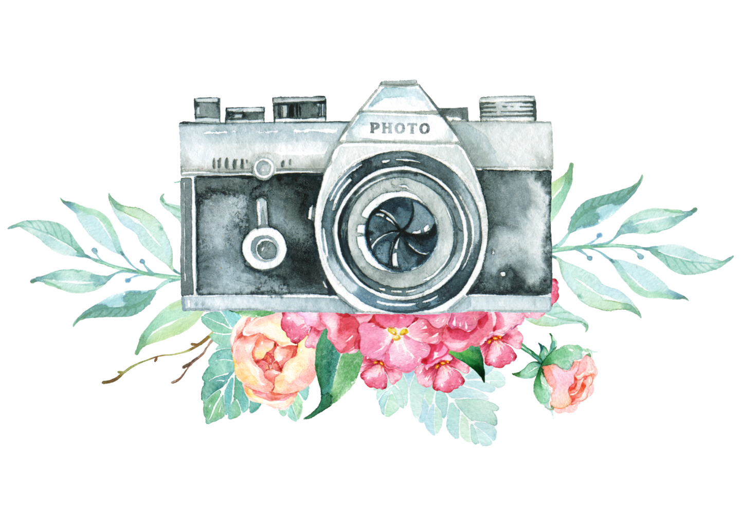 Camera clip art flower. Vintage flowers freetoedit report