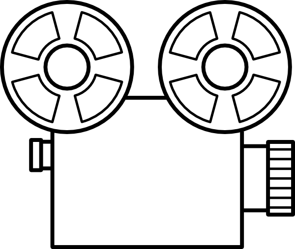 Camera clip art line drawing. Template clipart clipartxtras